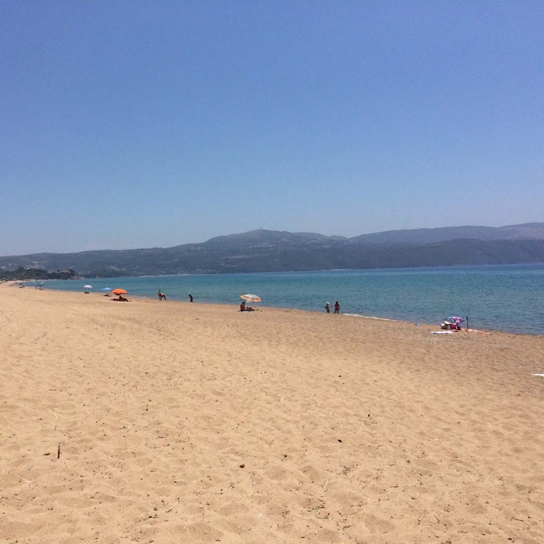 The beautiful Mavrovouni beach