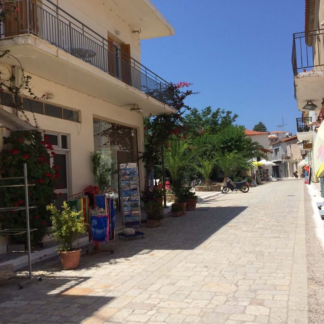 The main stone-street in Finikounda